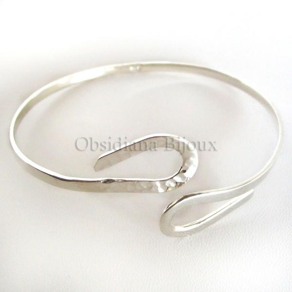bracelet argent infini obsidiana bijoux de cr ateur. Black Bedroom Furniture Sets. Home Design Ideas