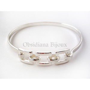 "Bracelet rigide argent ""Ana"""