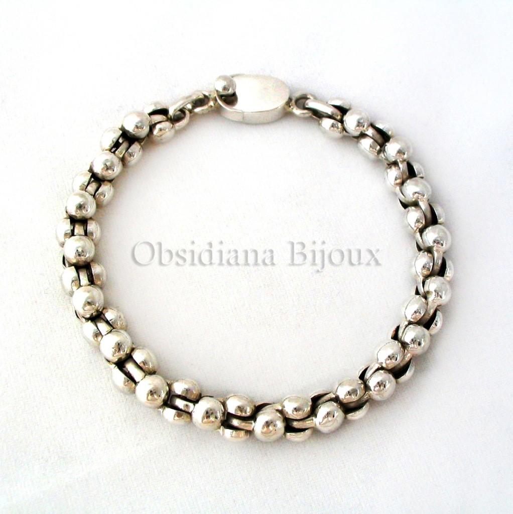 """Bracelet Argent """"Puissance"""""""