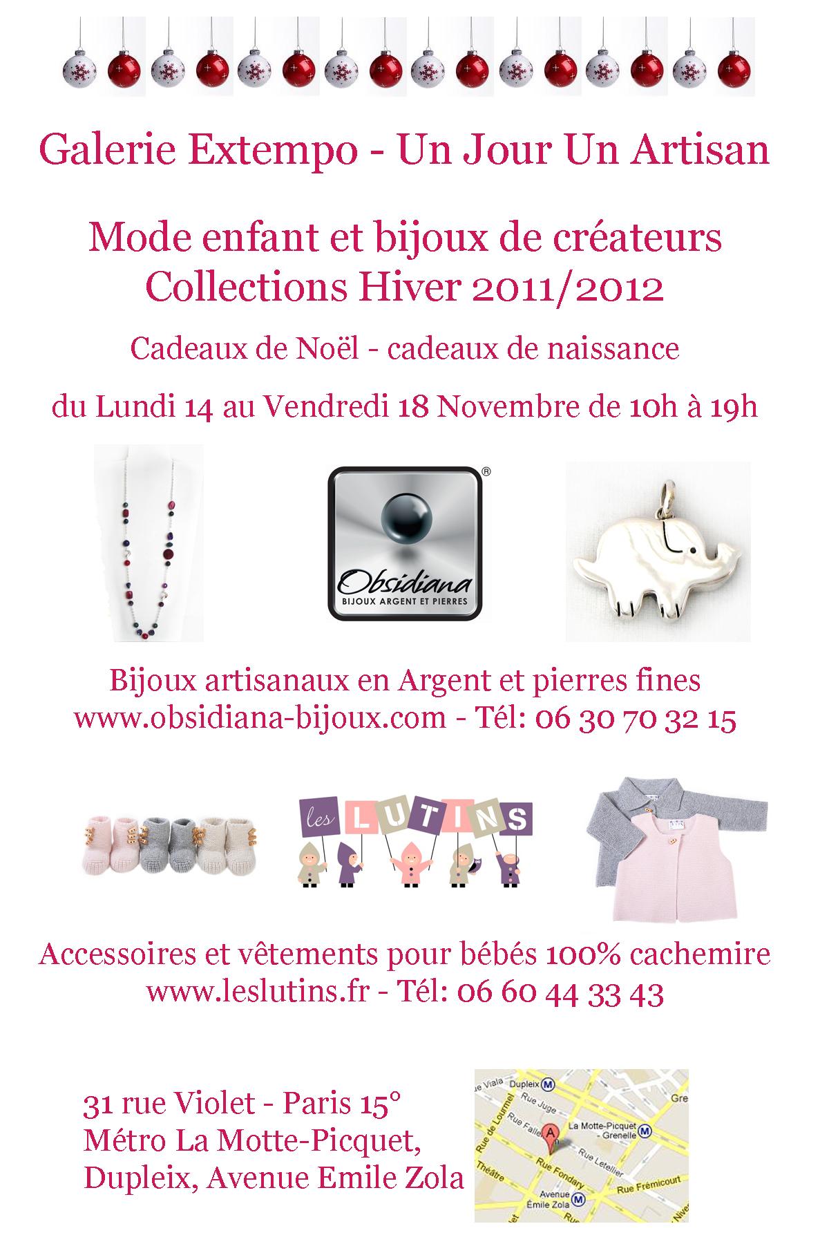 Boutique éphémère Les Lutins - Obsidiana Bijoux